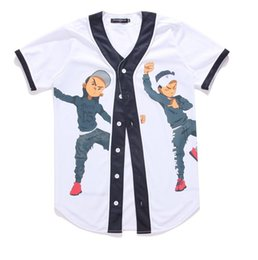 86cb9f9a93535 Nouvelle Arrivée De Mode Hip Hop Danse Des Gars Jersey 3d All Over  Impression Baseball T-Shirt D été Hommes Cool Sport Streetwear Tops  Vêtements