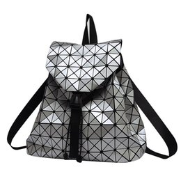 $enCountryForm.capitalKeyWord UK - Women Backpack Feminine Geometric Plaid Sequin Female Backpacks For Teenage Girls Bagpack Drawstring Bag Holographic Backpack