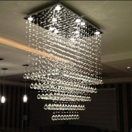 Discount Rectangular Crystal Chandelier Dining Room | 2017 Crystal ...
