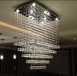 Rectangular Chandelier Crystal Light Modern Living Room Lighting Length 80cm 100cm 120cm Lustre LED LLFA
