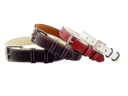 $enCountryForm.capitalKeyWord UK - Onewellpet Brand High Quality Leather Pet Collar With Four Colors And Size Of M L XL XXL For Doberman And Other Large Pet Dogs