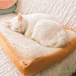 cat beds medium NZ - 2017 New Arrival Bed For Cat Winter Warm Bread Style Puppy Breathable Mat Pet Pillow 3 Sizes