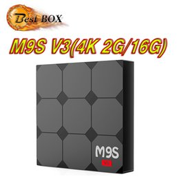 Wholesale Pandora Gift Boxes NZ - RK3229 Android 6.0 TV Box m9s v3 Rockchip Quad-core Cortex A7 2G 16G 4K*2K 2.4G WiFi HDMI More APPs Smart OTT Media Player Best Gift OEM