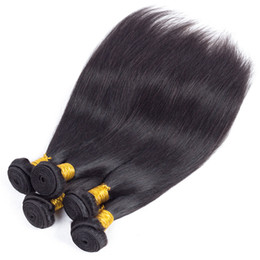 straight cambodian human hair UK - Most Popular Straight Human Hair Weaves 8a Grade Unprocessed Malaysian Indian Peruvian Brazilian Human Hair Bundles Daily Deals Hair Wefts