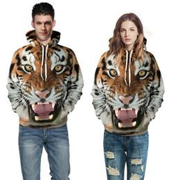 Cat S Collar Canada - Men Women Hoodies Hip Hop Sweatshirt Funny 3D Tiger Lion Cat Leopard Fashion brand Plus Size 3XL Hoodie men Tracksuit Unisex Pullovers