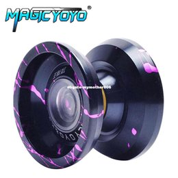 Metal Yoyo For Kids Canada - MAGICYOYO K9 The King Aluminum Alloy Professional Magic Yoyo YO-YO Classic Toys Gift For Kids Children