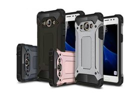 Toptan satış Samsung Galaxy için J5 J7 J3 PRO J510 J710 J1 2016 J120 J210 10 renk Zırh Hibrid Defender Kılıf TPU + PC Darbeye Kapak Kılıf 50 adet / grup