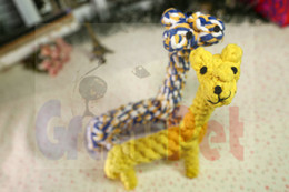 $enCountryForm.capitalKeyWord Canada - Giraffe Puppy chewsCotton Rope 29*7.5cm 130gChewing Favourite Product top sales Bone Knot Indestructible Dog Toys for Aggressive Chewers919#