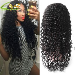peruvian deep wave full lace wigs NZ - 8A Wigs 150% Density Deep Wave With Baby Hair For Black Women Full Lace Human Hair Wigs Peruvian 100% Virgin Hair