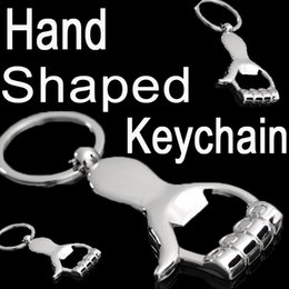 Alloy Hand Canada - Creative Hand shaped Beer Bottle Opener Keychain Personalized Metal Zinc alloy Bottle Opener Bar Tool B103Q