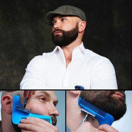 2018 com pacote Beard Bro Shaping Ferramenta Styling Template BEAD SHAPER Pente para o Modelo Ferramentas de Modelagem de Barba 10 CORES NAVIO POR DHL