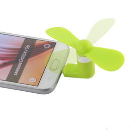i5 apple cell phones UK - Mini Cool Micro USB Fan Mobile Phone USB Gadget Fan Tester Cell phone For type-c i5 Samsung s7 edge s8 plus