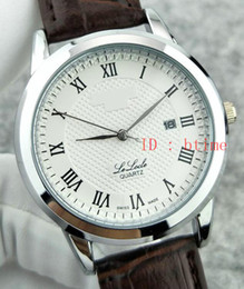 Hour clock online shopping - 2017 New Luxury Brand Silver Black Leather Sports Men Watches Watch Quartz Hour Clock Sport Mens WristWatch Relogio automatic Masculino