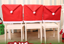 $enCountryForm.capitalKeyWord Canada - 50pcs Santa Claus Cap Chair Cover Christmas Dinner Table Party Red Hat Chair Back Covers Xmas Decoration