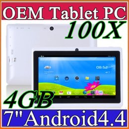 Tablet China 4gb Australia - 100X 7 inch Q88 tablet pc Quad Core Allwinner A33 Android 4.4 KitKat Capacitive 1.5GHz DDR3 512MB RAM 4GB ROM Dual Camera Flashlight A-7PB