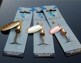Горячая Spinner приманки рыболовные приманки крюк 6 Размер 3 цвета пресноводные Spinnerbaits бионический VIB лезвия металлические джиги приманки ложки приманки