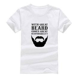 Wholesale personalize t shirts online – design Great beard New Clothes Fashion Man Casual T Shirt Cotton O Neck Short Sleeve Loose Personalized unique Male Tops Tees