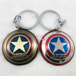 $enCountryForm.capitalKeyWord Canada - 4pcs 2Color Optional Marvel Super Hero The Avengers Captain America Shield Metal Keychain Pendant accessories Key Chains Key rings