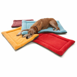 $enCountryForm.capitalKeyWord UK - Durable Soft Pet Bed Puppy Cat Dog Travel Mat Solid Breathable Yorkshire Poodle Winter Warm Mat 6 Colors XS S M L XL