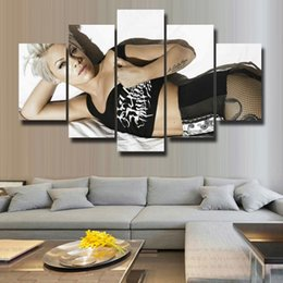 beautiful homes paint pictures NZ - 5 Pcs Set Canvas Print Painting Modern Canvas Wall Art for Wall Pcture Home Decor Artwork Beautiful picture#131