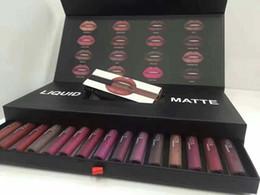 Chinese  New Liquid Lip gloss kit Matte Lipstick Lip Gloss set Waterproof Long Lasting colorful set 16colors free DHL manufacturers