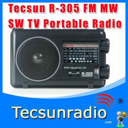 Sw Pack NZ - Wholesale-10pcs lot Wholesale-Retail-Wholesal Tecsun R-305 FM MW SW TV Bands World Portable Radio
