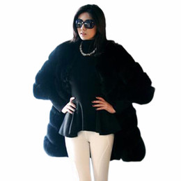 Luxury Women Parka Canada - Women Fashion Long Sleeve Luxury Jacket Fox Faux Fur Outwear Long Parka Coat