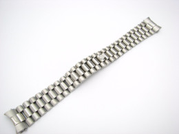 Wholesale CARLYWET mm Solid Curved End Screw Links Deployment Clasp Stainless Steel Wrist Watch Band Bracelet Strap