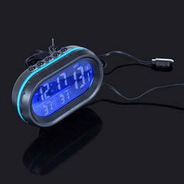 auto clocks car 2019 - 1PCS 12V 24V Digital Car Auto Truck Clock Voltage Temperature Thermometer Alarm Monitor Multi-functional cheap auto cloc