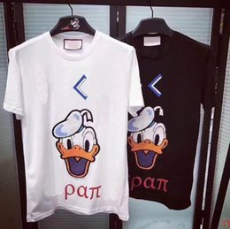 Barato Shorts Do Pato Camisetas-Hot Selling Men's T Shirts Cartoon Duck Imprimir Summer Fashion Short Sleeve Tees Masculino Camisa Masculina T-Shirt Masculino Tops XXXL