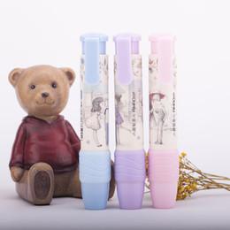 designer pens wholesale 2019 - Wholesale- 1pcs Cute Designer Students Pen Shape Eraser Rubber Stationery Kid Gift Toy School Supplies 3 Colors cheap de