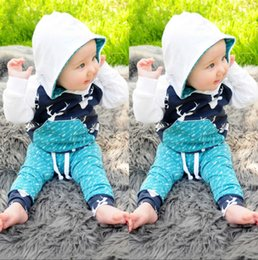 Toddler Deer Canada - 2016 Hot christmas Xmas deer Toddler Kids Baby Boy Girl Deer Hooded Tops+Pants suits cotton high quality children Outfits Set casual Clothes