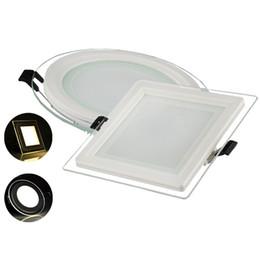 Бесплатная доставка Затемняемый стеклянная панель светодиодные фонари 9 Вт 18 Вт 25 Вт светодиодные панели света круглый квадрат оболочки стекла светодиодные светильники IP44 AC 110-240 В