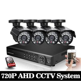 Chinese  HD 2000TVL 8CH CCTV system 3G WIFI 4 channel Full 1080P HDMI AHD DVR kit 1080p output 4pcs security camera system with 1TB HDD manufacturers