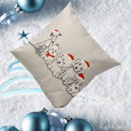 christmas pillows Canada - Wholesale- Pillow Case New Year christmas pillow case cover decorative christmas for home pillow cases vintage retro pillowcase for the pi