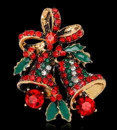 $enCountryForm.capitalKeyWord Australia - 2017 festive atmosphere jewelry European American high-grade hot Christmas bells alloy diamonds male charm inlaid corsage