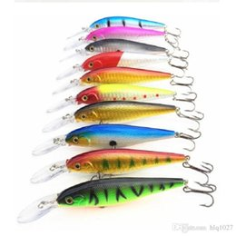 Discount salt water jigs High Quality Mix Colors 11cm 10.5g Hard Bait Minnow Fishing Lures Bass Fresh Salt Water With Hook Free Shipping