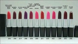 $enCountryForm.capitalKeyWord Canada - Good Quality Brand makeup MATTE LIPSTICK ROUGE A LEVRES 3G ,12 different color (12pcs lots )