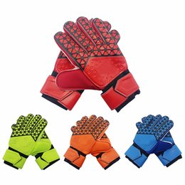 White summer gloves online shopping - Glove Professional Soccer Goal Keeper Protection Mittens Football Soft Ball Sports Gloves Fashion Useful Mitts Top Quality Hot Sale hj F