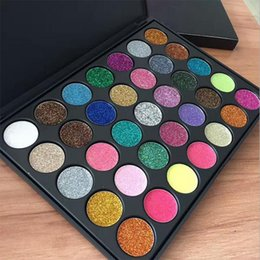 Ombre À Paupières De Haute Qualité Pas Cher-HOT Nouveauté Hot Mor Eye Shadow Palette 35colors shadow shimmer Palette de maquillage Glitter Haute qualité DHL Livraison MR457