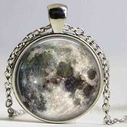 Universe Pendant Canada - Wholesale Glass Dome Pendant Necklace Planet Galaxy Necklace galaxy space universe gift for men Glass Picture Pendant