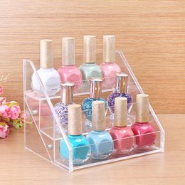 lipstick racks Australia - Fashion Clear Acrylic Nail Polish Rack Jewelry Cosmetic Organizer Women Makeup Tools Storage Shelf Lipstick Holder Jewelry Container