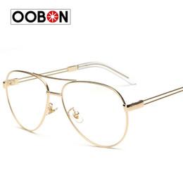 94b4733ca29 Wholesale- Vintage Gold Eye Glasses Frame For Men Women Retro Eyeglasses  Frames Spectacles Eyewear Optical Lens Transparent Eyewear