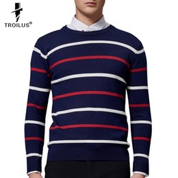 Black White Striped Sweater Men Online Shopping Black White