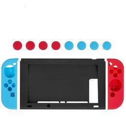 1 Conjunto de Caso para Nintendo Switch Caso NS NX Silicone Macio Silicone Capa Protetora para Nintendo Switch Console Capa Protetora