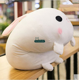 giant soft toy rabbit 2020 - Dorimytrader New Hot Lovely Soft Lying Cartoon Bunny Plush Doll Giant Stuffed Animal Rabbit Toy Pillow Child Gift 65cm x
