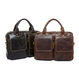 $enCountryForm.capitalKeyWord Canada - genuine leather handbag 8002 Top layer cow leather one shoulder business totes 4 color OEM available