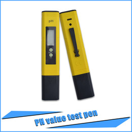 ph pens wholesale Australia - Freeshipping 5 pcs High Quality Sanwony New Protable LCD Digital PH Meter Pen of Tester Aquarium Pool Water Wine Urine