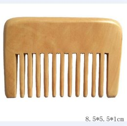 sandalwood hair comb 2019 - Small Pocket Wood Comb Wide Tooth Afro Pick Hair Comb Handmade Sandalwood Wooden Anti Static Hairloss Massage Beard Care
