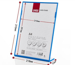 Reasonable A4 Vertical Wooden Menu Card Frame Stand 210*297mm Sign Holder Acrylic Price Tag Display Rack Advertising Poster Frame Photo Attractive And Durable Desk Accessories & Organizer